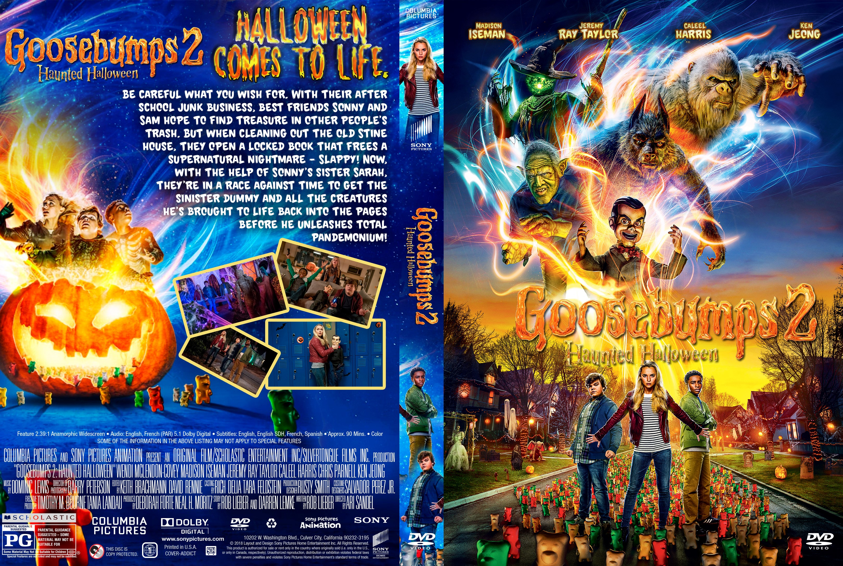 Goosebumps 2 Haunted Halloween 2020 Bluray Goosebumps 2: Haunted Halloween DVD Cover | Cover Addict   Free