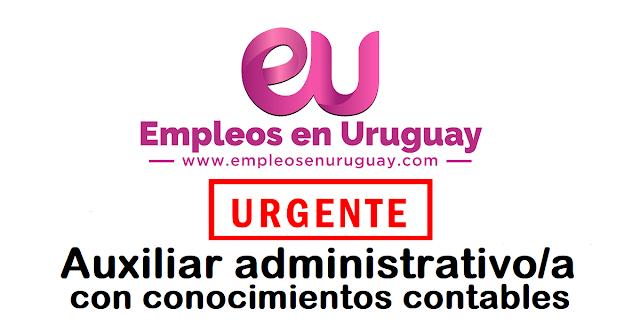 URGENTE Auxiliar administrativo/a con conocimientos contables (excluyente)