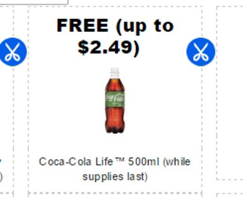 Coupgon Free Coca Cola Life