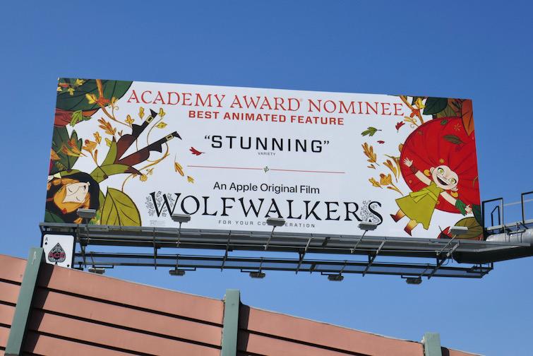 Wolfwalkers Oscar nominee billboard