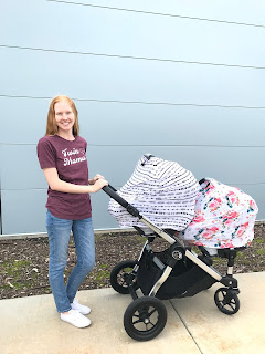 twin stroller setup