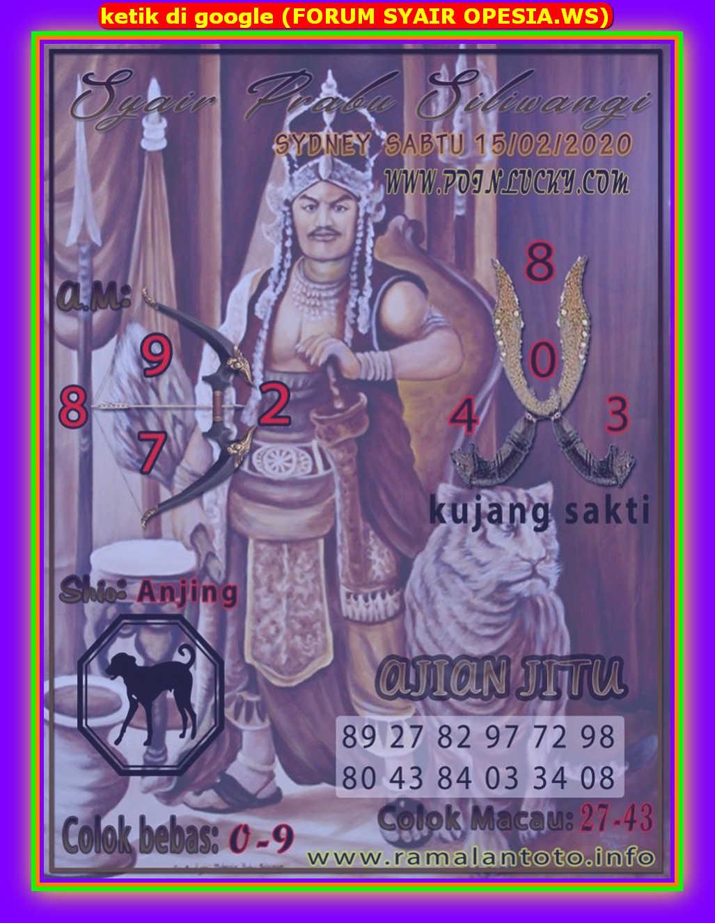 Kode syair Sydney Sabtu 15 Februari 2020 117