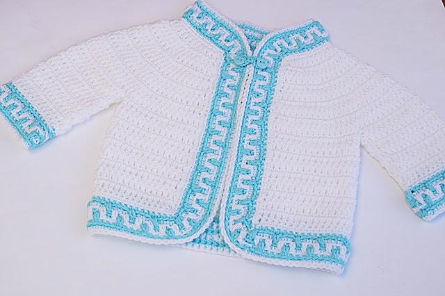 5 - Crochet Imagen Chaqueta a crochet ribeteada con puntada mosaico por Majovel Crochet