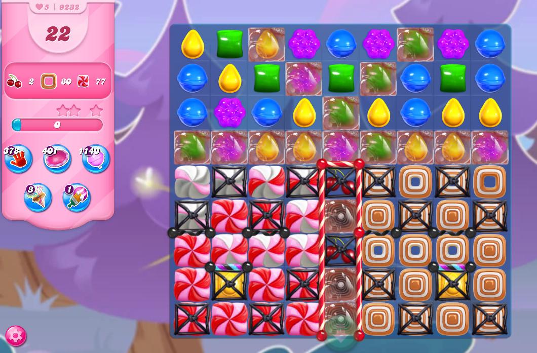 Candy Crush Saga level 9232