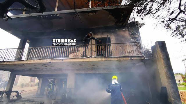 Βίντεο από την μεγάλη πυρκαγιά στο Μάνεσι Αργολίδας