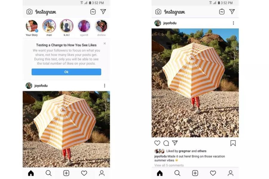 Facebook e Instagram comenzaron a ocultar los me gusta