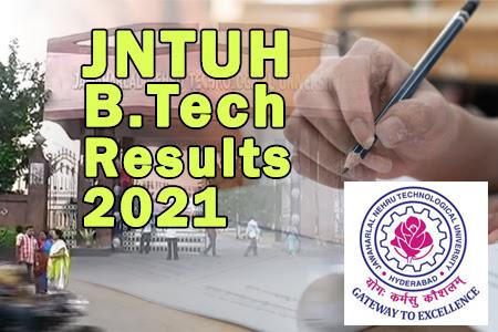 JNTUH B.Tech 1-1 Sem Results 2021