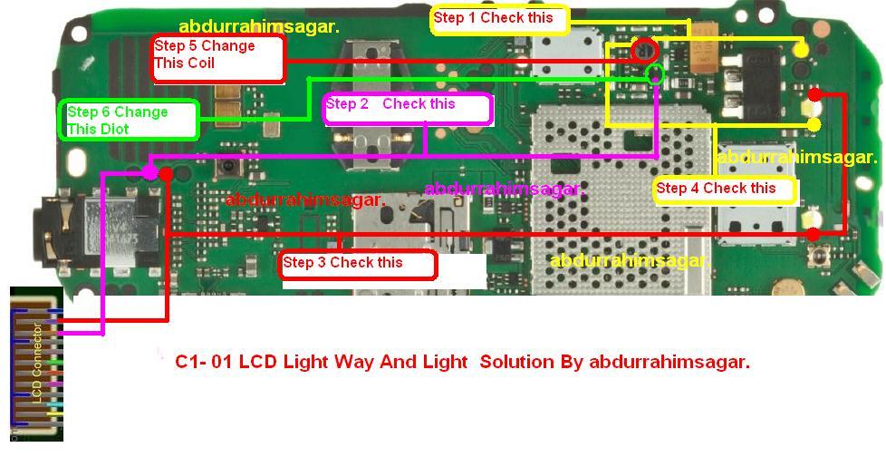 gsmbrw: nokia-c1-01-led-light-ways-tested-working-problem ... circuit diagram nokia c1 01