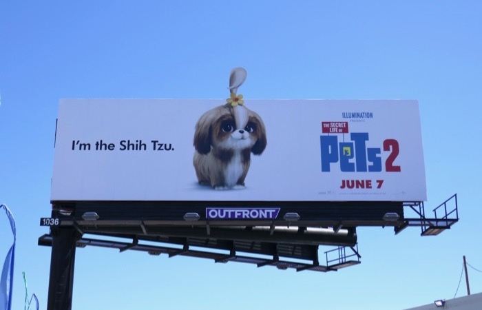 Secret Life Pets 2 Shih Tzu billboard