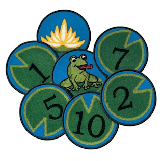 """12"""" round carpets for individual classroom seating for circle time"""