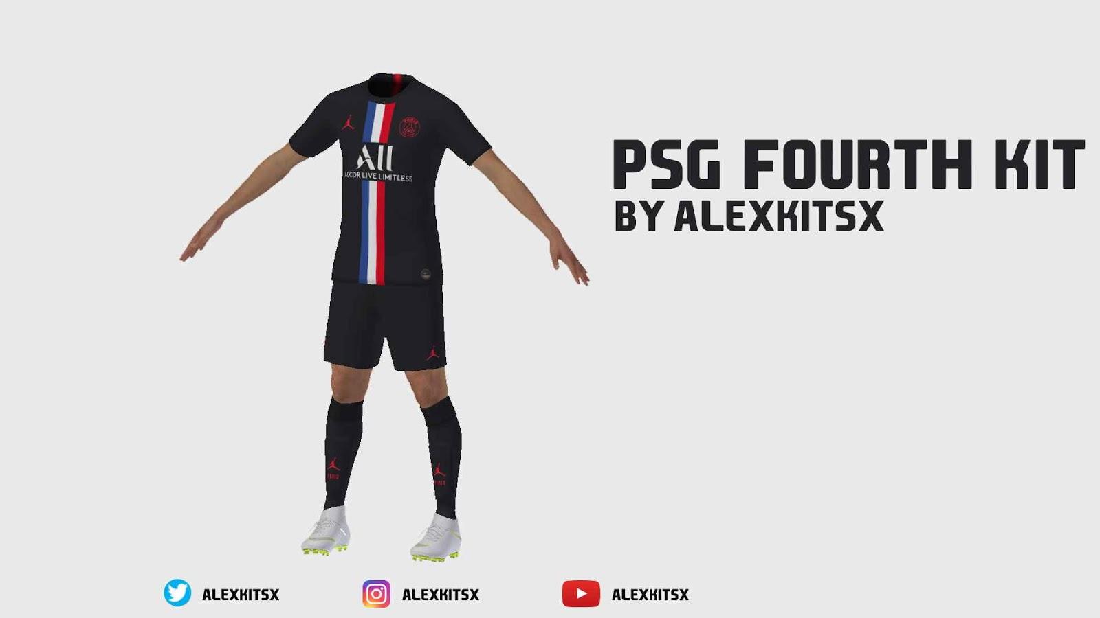 ultigamerz: PES 2020 PSG 2019-20 Fourth Kit