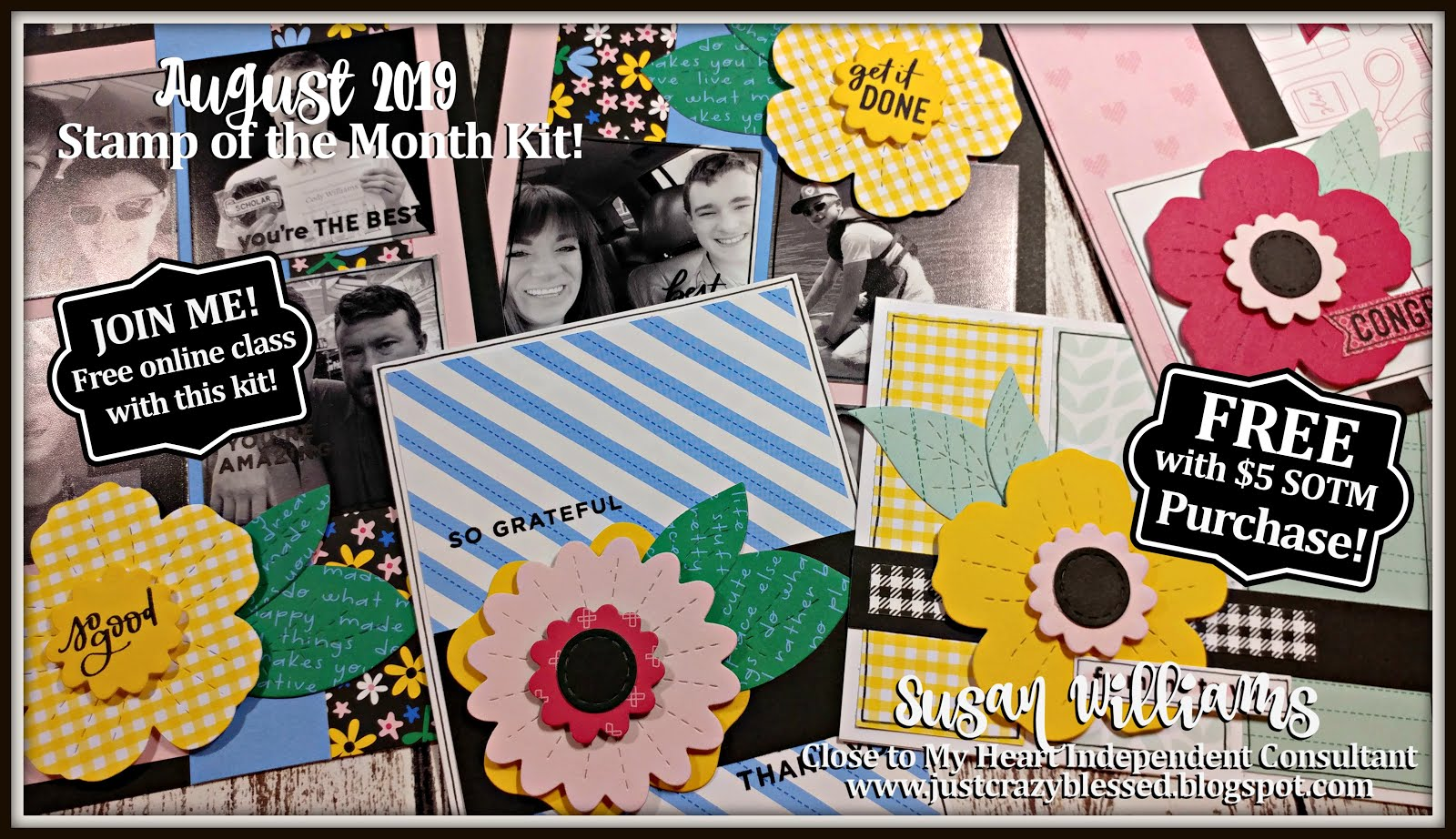 August 2019 Stamp of the Month Workshop!