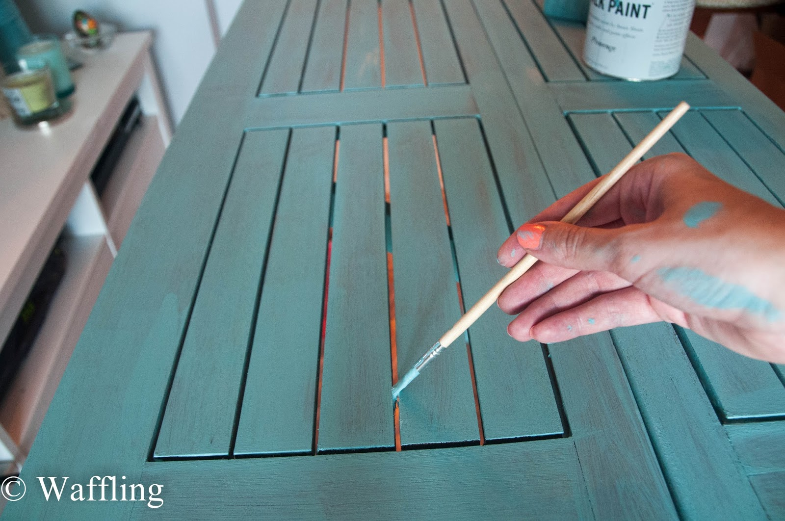 Outdoor Table Upgrade With Chalk Paint