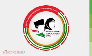 Logo Resmi Hari Santri Nasional (HSN) 2019 Santri Indonesia Untuk Perdamaian Dunia - Download Vector File CDR (CorelDraw)