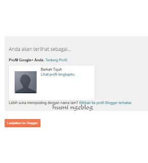 Lanjut ke Blogger