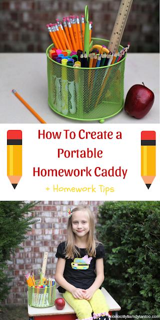 Portable Homework Caddy + Homework Tips