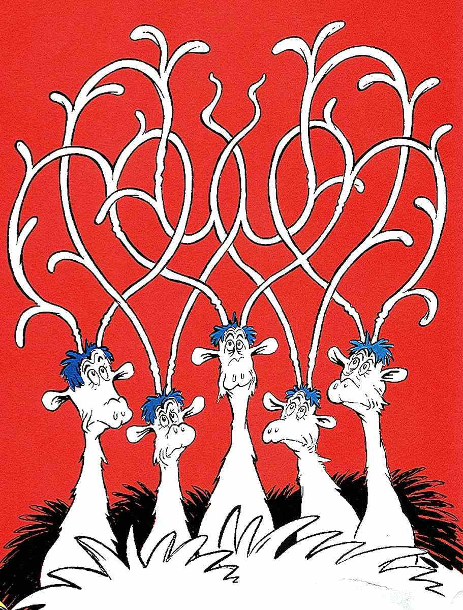 tangled antlers from the Dr. Seuss children's book If I Ran The Zoo