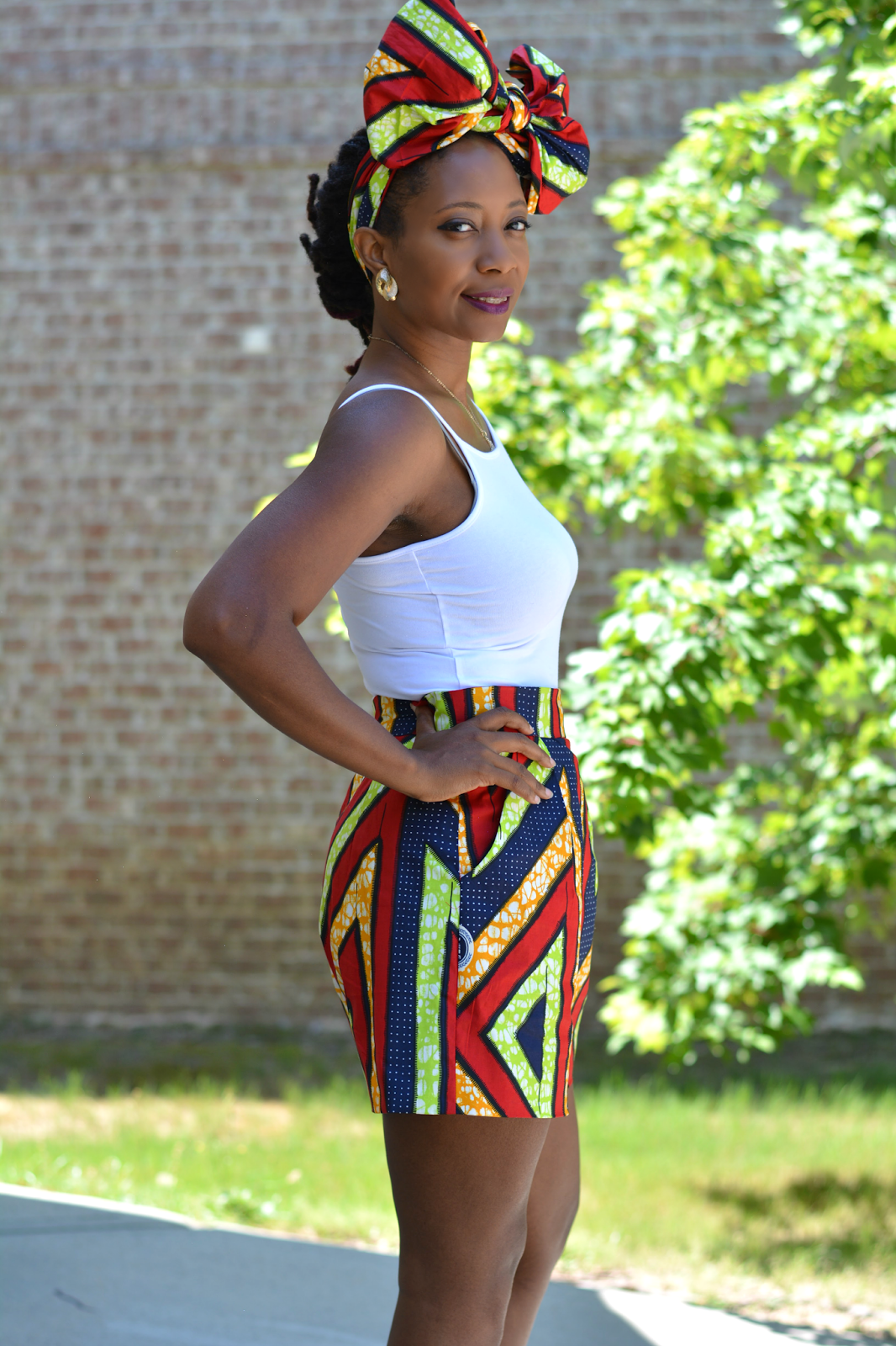 ankara shorts diy