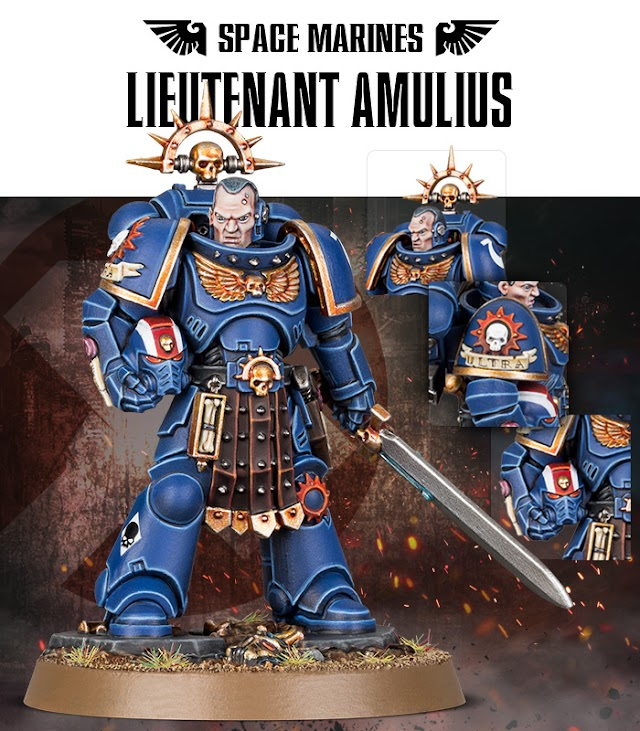 Available for a Limited Time.... Space Marines Lieutenant Amulius