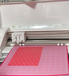Patterned paper ready to cut with personal cutting machine
