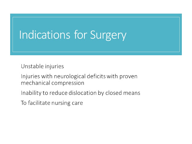 Indications of SUrgery Non Operative Management Cervical Spine Injuries
