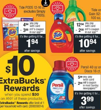 Tide Pods CVS Coupon Deal $0.45 922-928