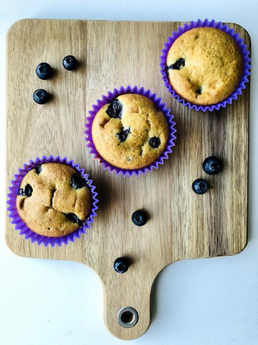 Muffins myrtilles IG bas
