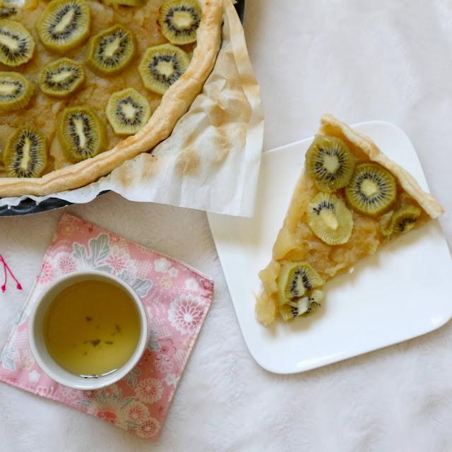 Recette tarte pommes et kiwi