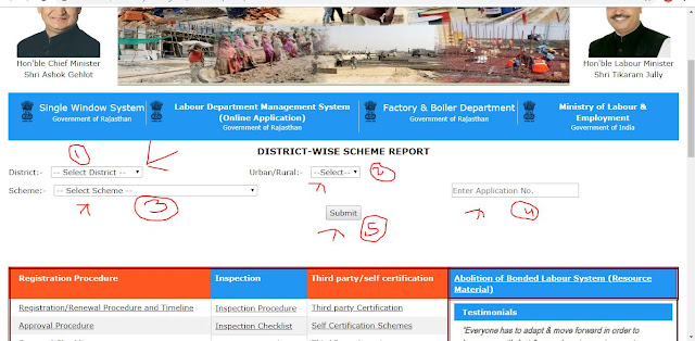 labour department rajasthan scheme report
