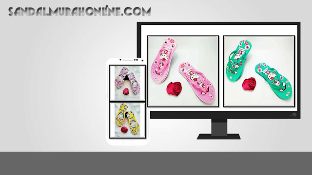 Sandal Sablon HK Wanita - Grosir Sandal Murah Online 0858 6085 4424