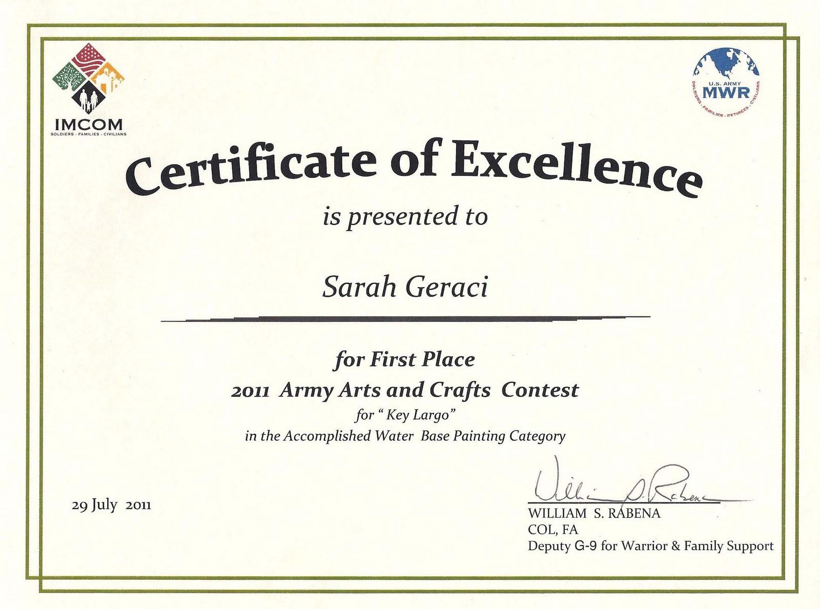 Wonderful Art Award Certificate Template Art%2BAward Art Award Certificate Template  First Place Award Template First Place Award Template Intended For First Place Award Template