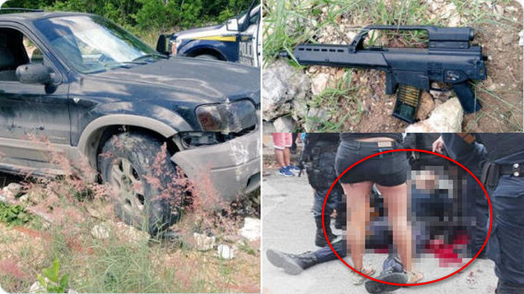 Sicarios emboscan y rafaguean a dos policías mientras patrullaban en Cancún, QRoo; dejan un elemento abatido y otro herido