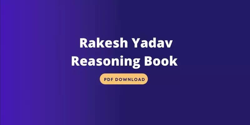Rakesh Yadav Reasoning Book PDF Download