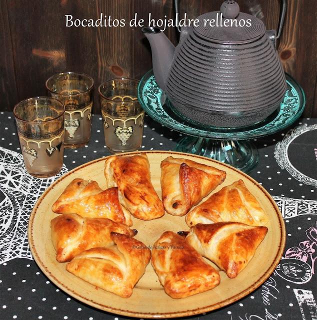 ricotta-and-pear-puff-pastry, bocaditos-de-hojaldre-con-ricotta-y-pera