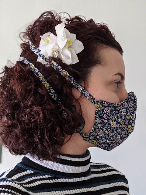 masque en tissus artisanal fait maison pour faire les courses