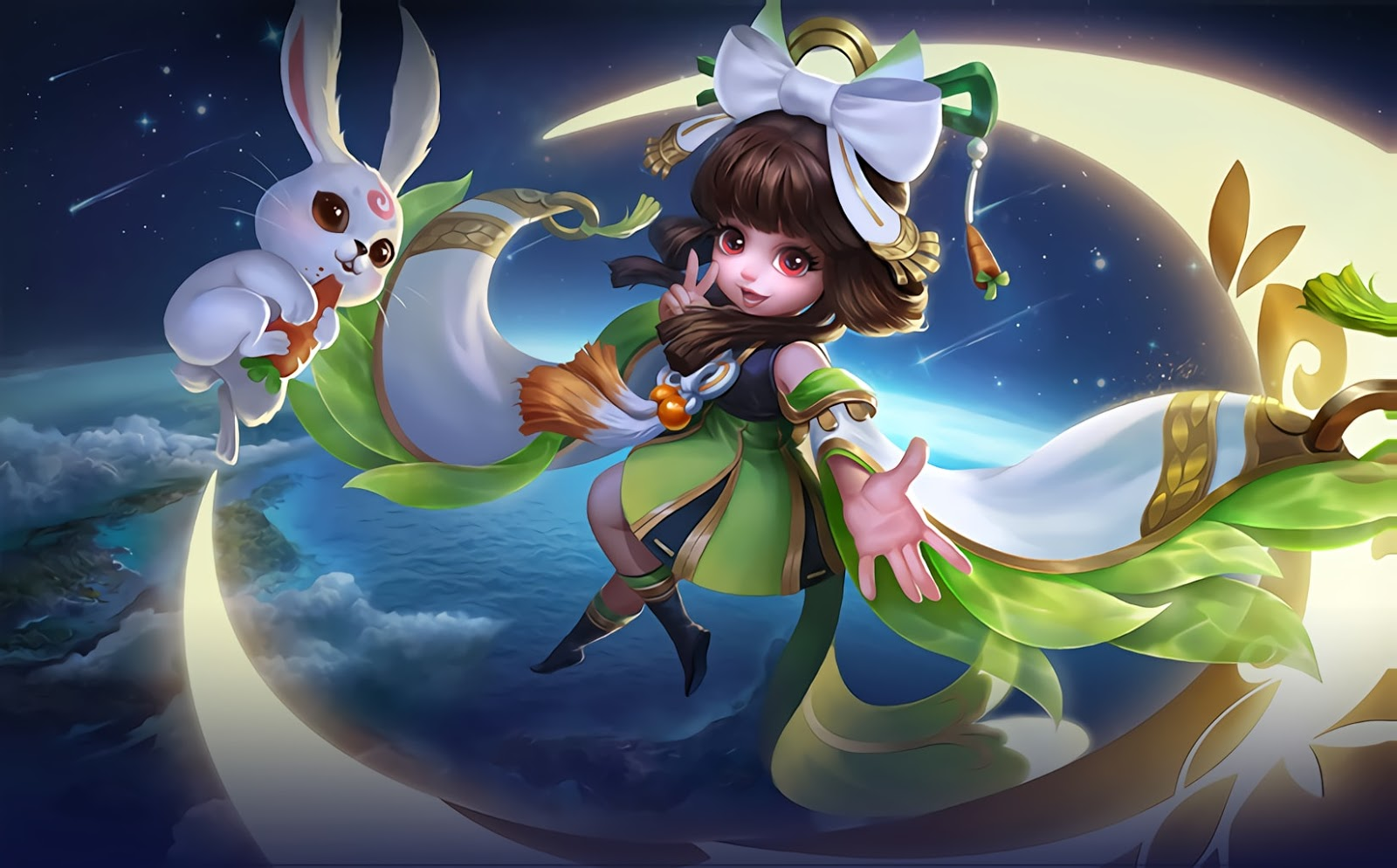 Wallpaper Chang'e Moon Palace Immortal Skin Mobile Legends Full HD for PC