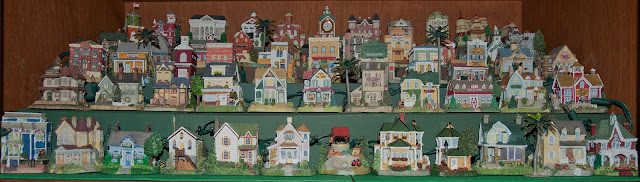 Some of the tiny buildings in the Liberty Falls collection of decorative houses.