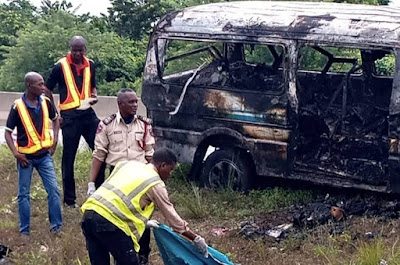 FRSC Sheds More Light On 5 Passengers Burnt To Death Along Lagos Ibadan Expressway
