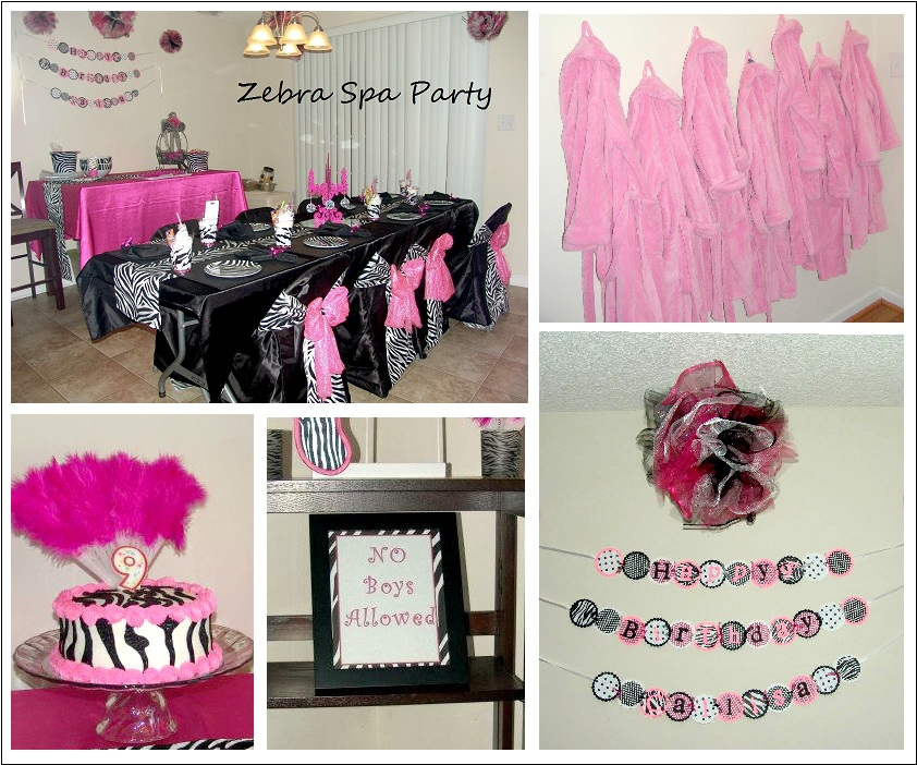 My Creative Way: Zebra Spa Party Decorating Ideas