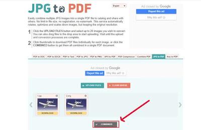تحويل الصور الى pdf