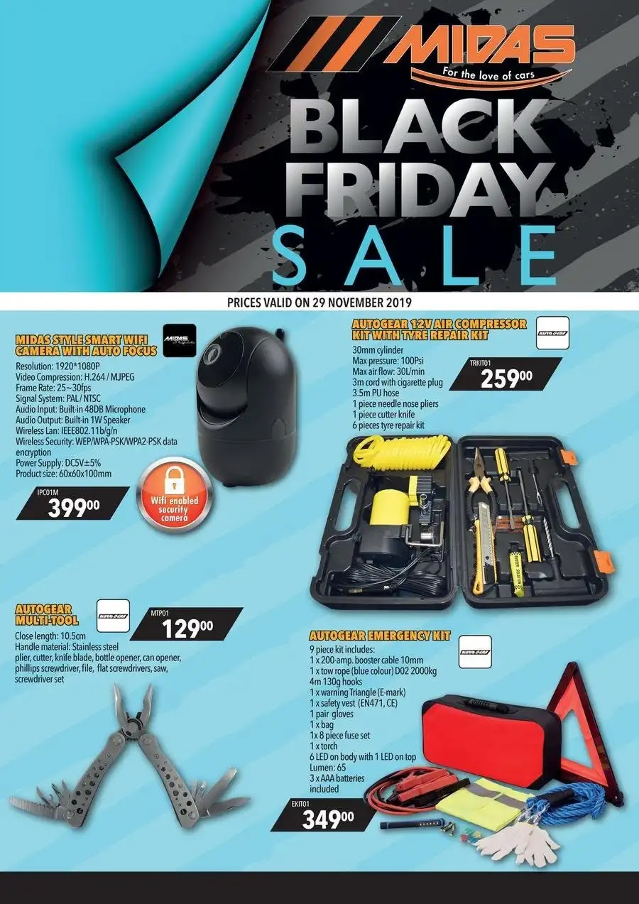 Midas Black Friday Deals