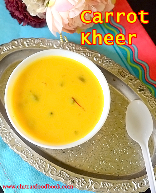 carrot  kheer in pressure cooker