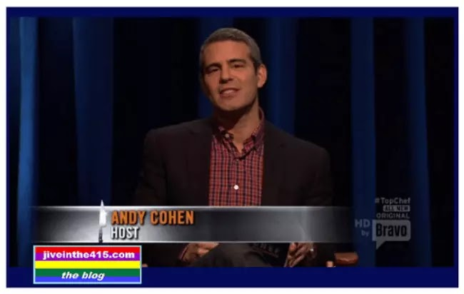 Andy Cohen on set while taping the Top Chef:Texas - Season 9 Reunion Host.