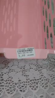 Caixa organizadora rosa claro