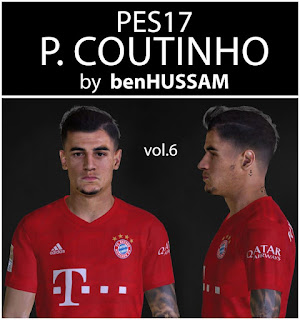 PES 2017 Philippe Coutinho by BenHussam