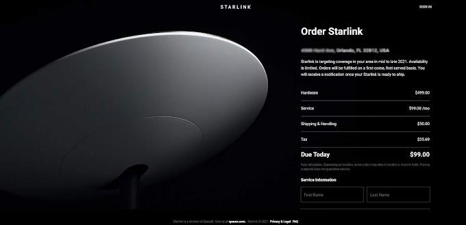 Nova opção de internet surge à medida que a SpaceX expande o serviço Starlink para mais clientes