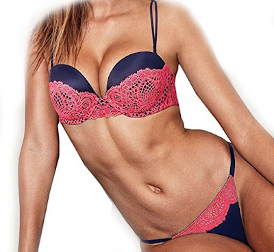 Victoria's Secret VERY SEXY Hot Pink Crochet Multi-way Bra & Thong
