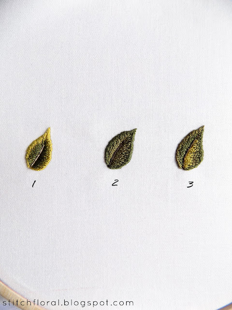 Needlepainting tips part 2: leaves practice