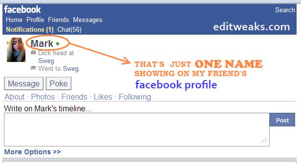 one name facebook profile