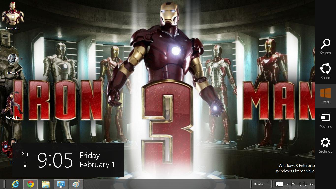 Iron Man Me Windows 8